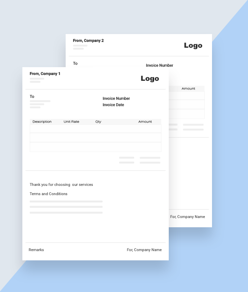 multiple type invoices